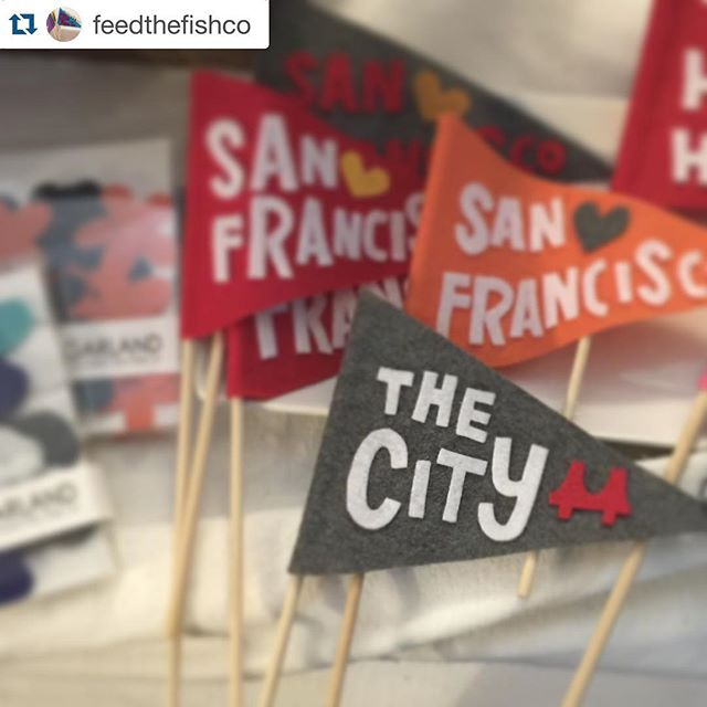 #handmade awesomeness by the #adorable @feedthefishco now available at #urbanbazaarsf!  #citylove with @repostapp. ・・・ New pennants and garlands in stock at @urbanbazaarsf! City love!!!