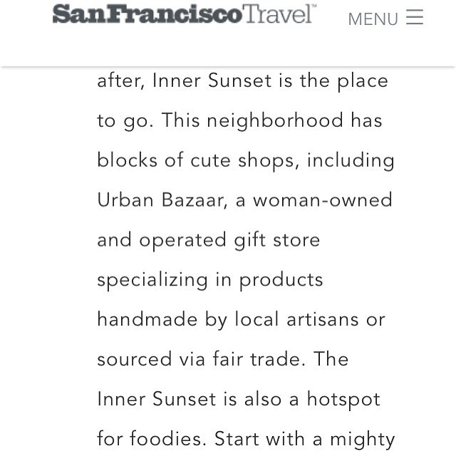 😊😍aw, thank you, @sfmeetings!  #innersunset has some #awesomeness on its streets!  #urbanbazaarsf, @arizmendibakery9thave and @pacificcatch 😍😘 #sf #sanfrancisco  #neighbourhoodawesomeness #runningwiththebigdogs #weresohonoured