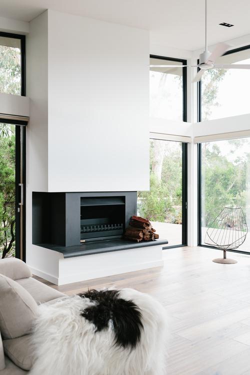 chimenea, ventilador, diseño, nórdico, blanco, negro, madera, moderno, minimalista, dekoloop