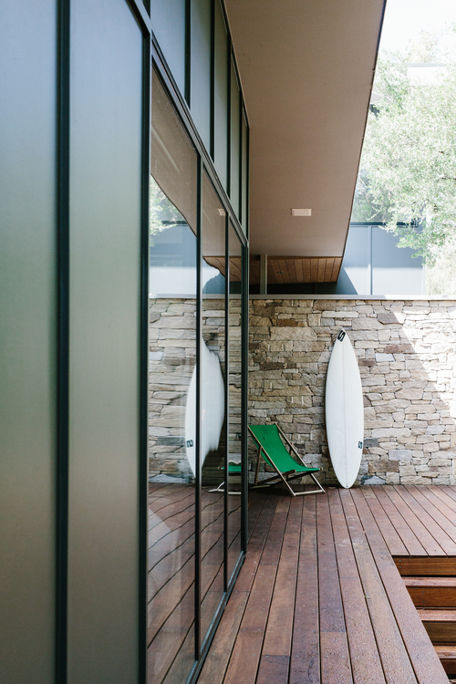 jardín, diseño, nórdico, blanco, negro, madera, moderno, minimalista, dekoloop