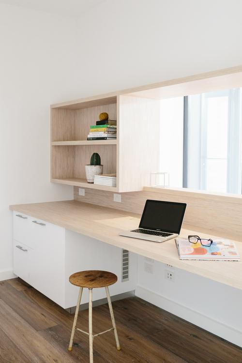 oficina, diseño, nórdico, blanco, negro, madera, moderno, minimalista, dekoloop