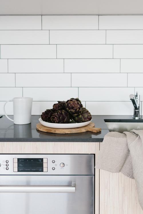 cocina, diseño, nórdico, blanco, negro, madera, moderno, minimalista, dekoloop