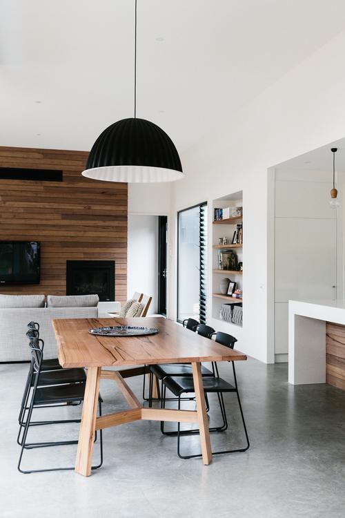 comedor, diseño, nórdico, moderno, minimalista, blanco, negro, madera, dekoloop