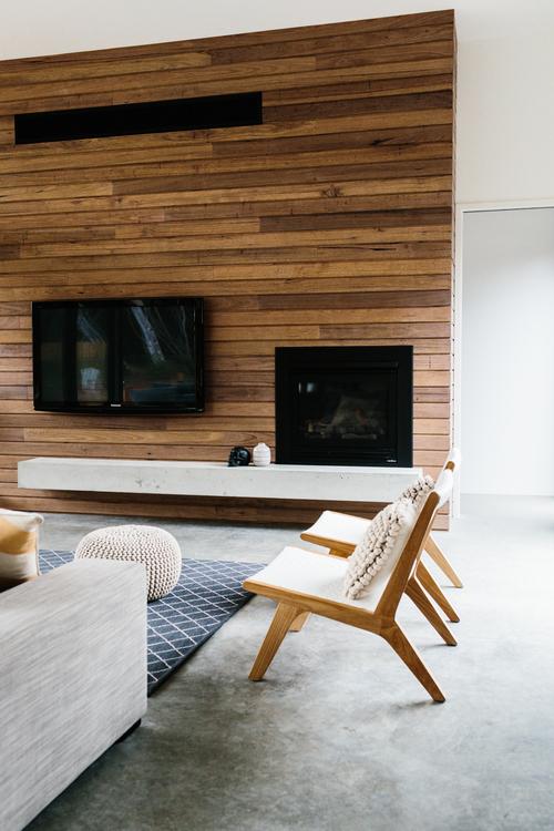 cuarto de estar, diseño, nórdico, moderno, minimalista, blanco, negro, madera, dekoloop