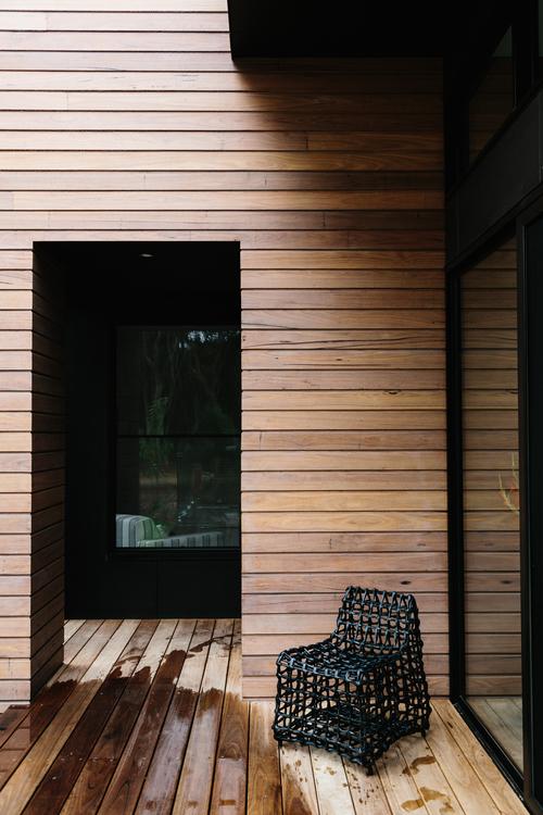 jardín, diseño, nórdico, moderno, minimalista, blanco, negro, madera, dekoloop