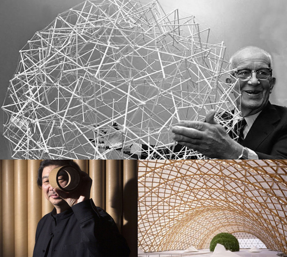 PROVEN TECHNIQUES - Many of my design decisions were influenced by the geodesic domes of Buckminster Fuller and Shigeru Ban's pioneering of paper-made architecture