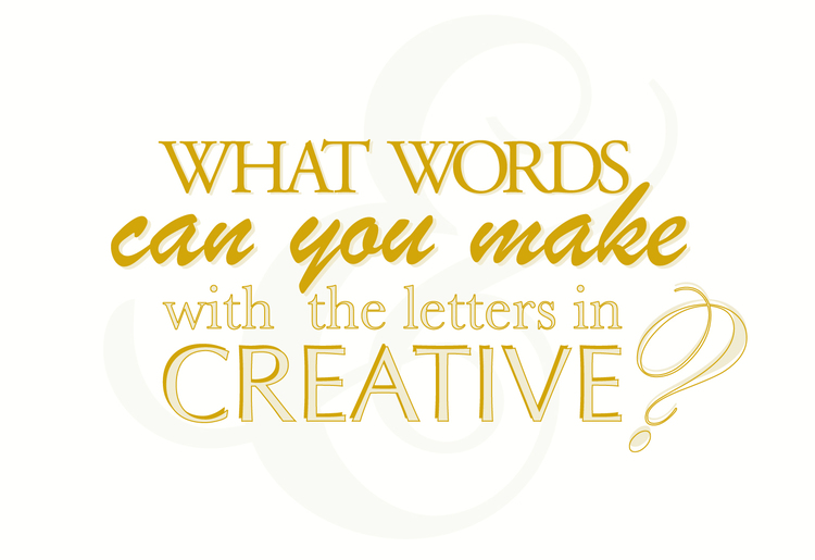 Incredible 182 Words From The Word Creative Made