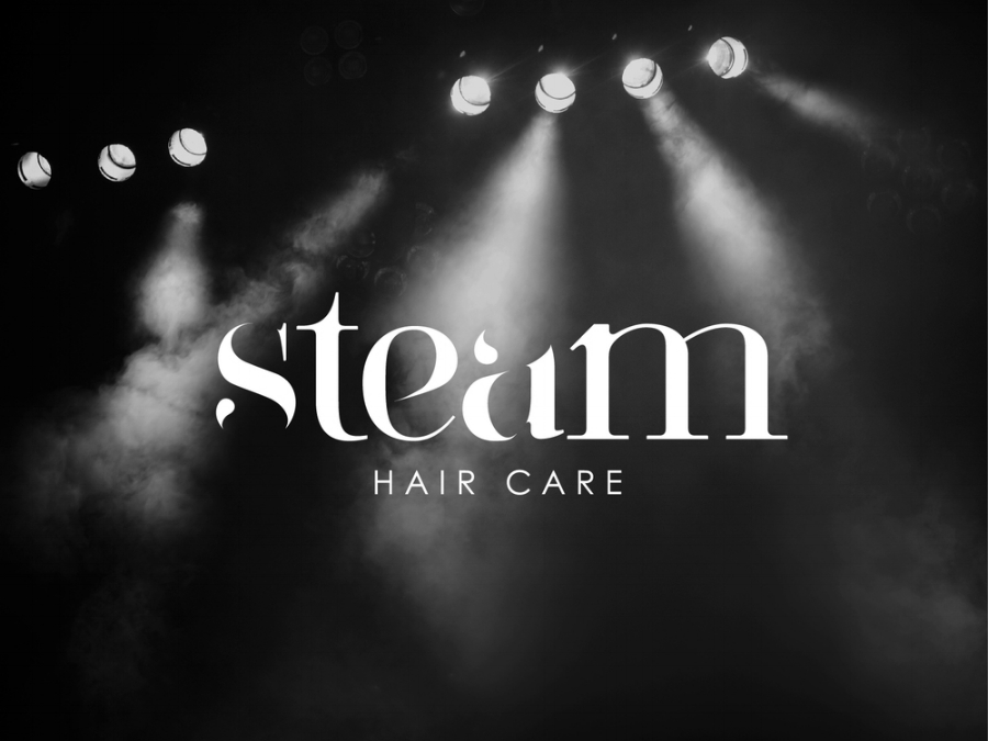 Steam hair care logo graphic design