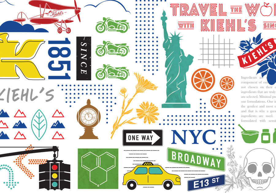 Kiehl's graphic pattern design