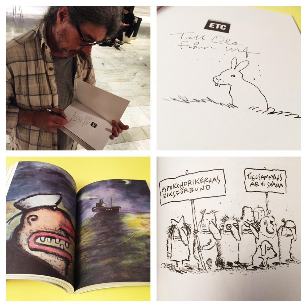 Äntligen av Ulf Lundkvist utgiven av Bokförlaget ETC 2016 collage.
