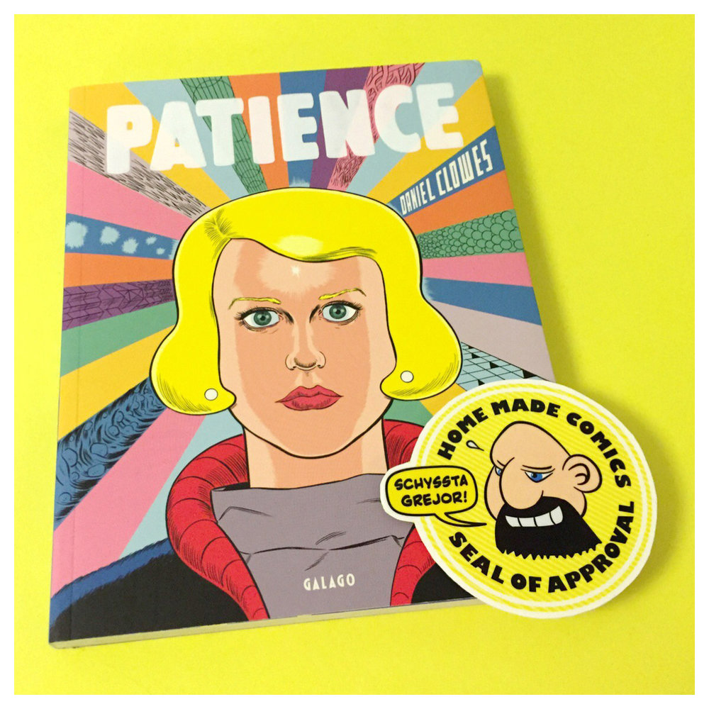 Home Made Comics Seal of Approval #142. Patience av Daniel Clowes utgiven av Galago 2016.