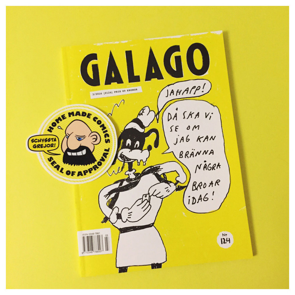 Home Made Comics Seal of Approval #150. Galago #124 av utgiven av Galago 2016.