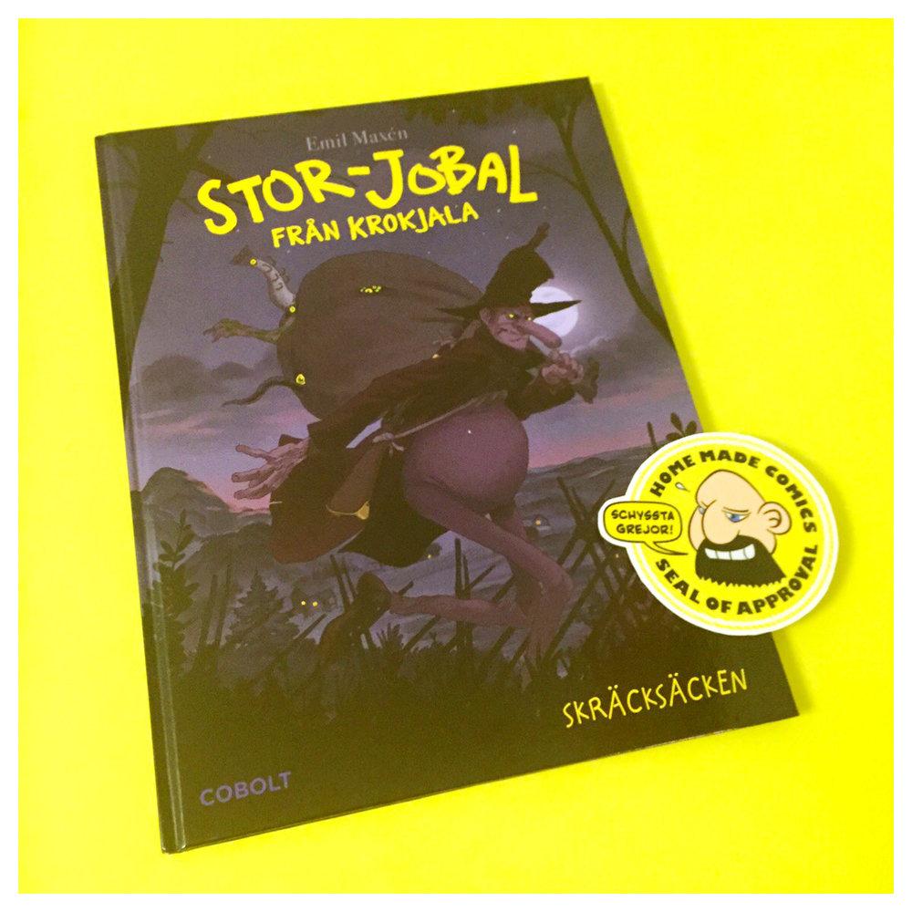 Home Made Comics Seal of Approval #169. Stor-Jobal från Krokjala Skräcksäcken av Emil Maxén utgiven av Cobolt 2016.