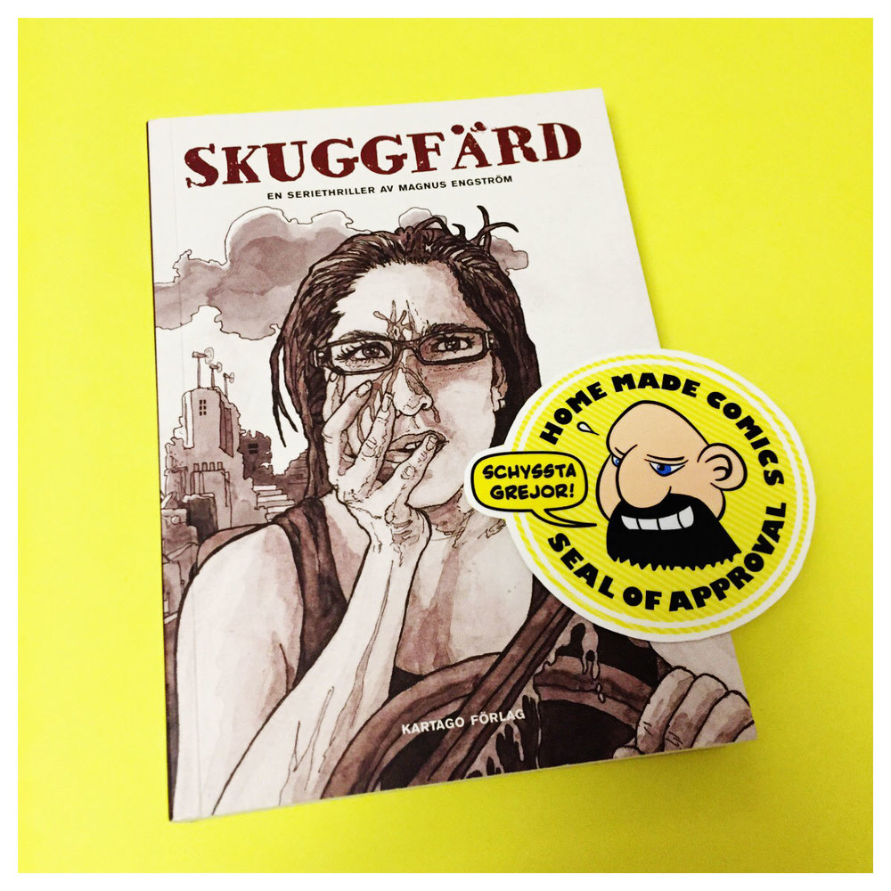 Home Made Comics Seal of Approval #186. Skuggfärd av Magnus Engström utgiven av Kartago 2017.