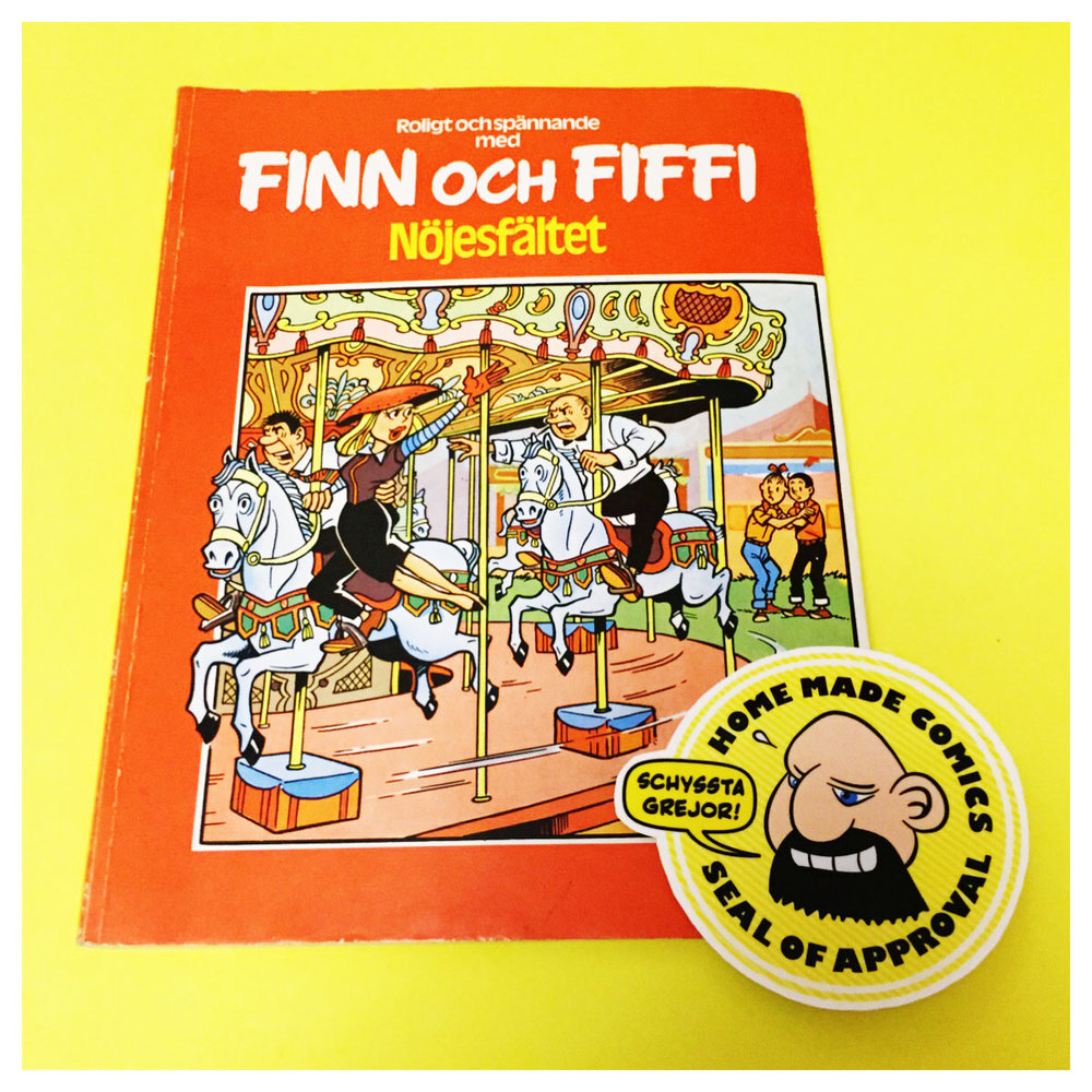 Home Made Comics Seal of Approval #193. Finn & Fiffi 40 Nöjesfältet av Willy Wandersteen utgiven av Skandinavisk press 1979.