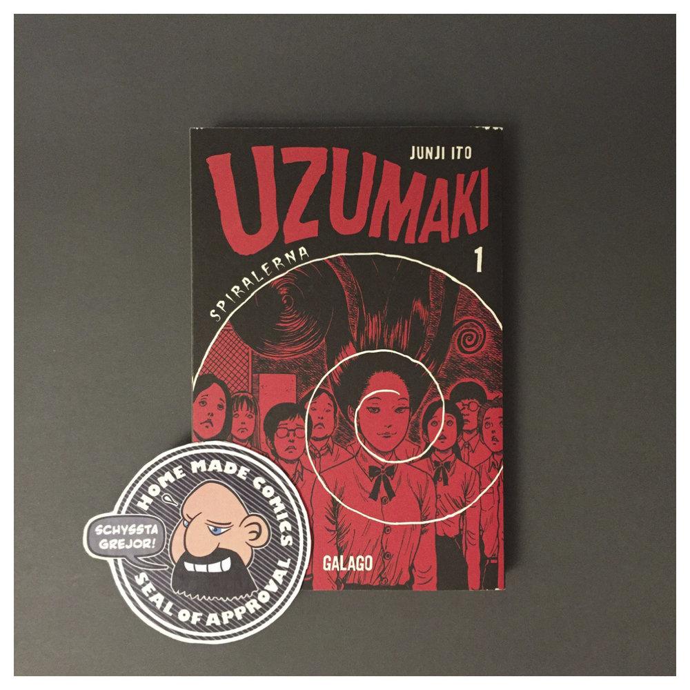 Home Made Comics Seal of Approval #216. Uzumaki – Spiralerna 1 av Junji Itō utgiven av Galago 2009.