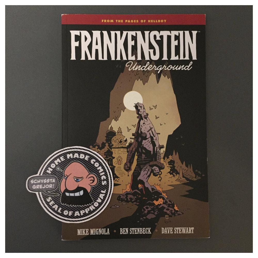 Home Made Comics Seal of Approval #231. Frankenstein Underground av Mike Mignola, Ben Stenbeck, och Dave Stewart utgiven av Dark Horse Comics 2015.