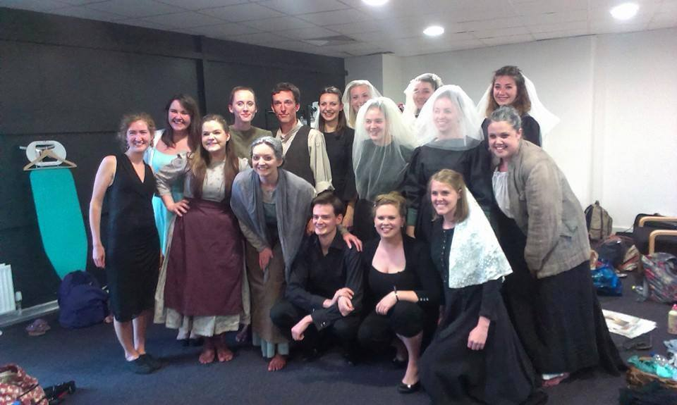 The cast and creative team of Bute Park Opera's  Riders to the Sea  (2014, Richard Burton Theatre)