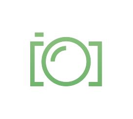 My logo: a camera, designed with clean lines.