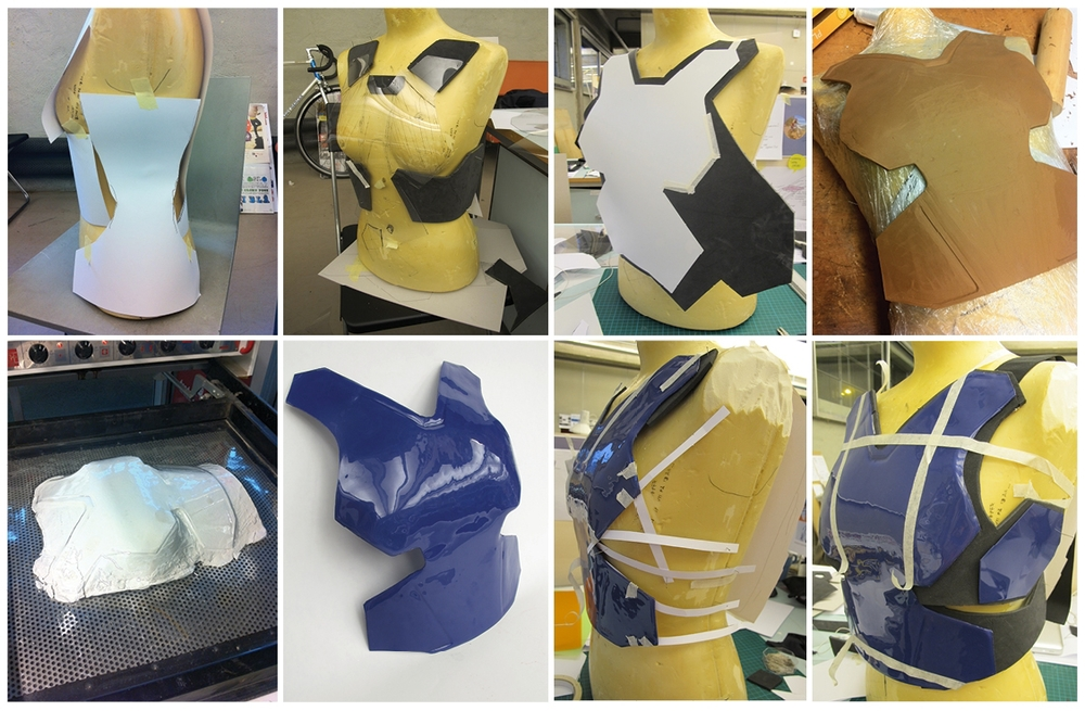 From the process of making the prototype for showing the shape and expression of the roost protector.