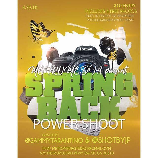"""Epic ass Sunday """"April 29th #SPRINGBACK Into shooting and creating with @sammytarantino @shotbyjp_ @shotsbymalik9602 @metromediastudios 2pm - 8pm then after party 9pm - Splash Sunday Sponsored By Clique Vodka at @iloungeatlanta $2 Shots/$5 mixed drinks. Free Clique Vodka infused wings catered by @lit_ass_wings  Hosted by #BlaqueBottleBoys 🍸🍸 @partywithgqnyc @sammytarantino #Pmg #atlnights #splashsunday #cliquevodka #iloungeatl  #roundtableent #teamhot #atlevents  #partywithgq #thelittour #atl #nyc""""  powered by @paysopmg @thehouseoftarantino"""