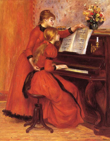 PIERRE AUGUSTE RENOIR -THE PIANO LESSON CA. 1889
