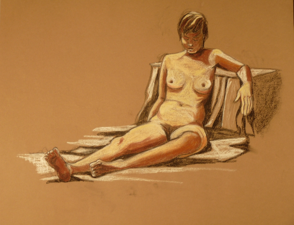 Nude in chalks