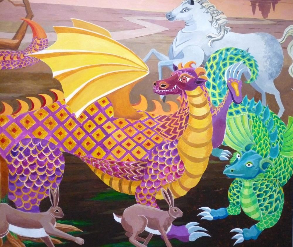 detail, children's mural