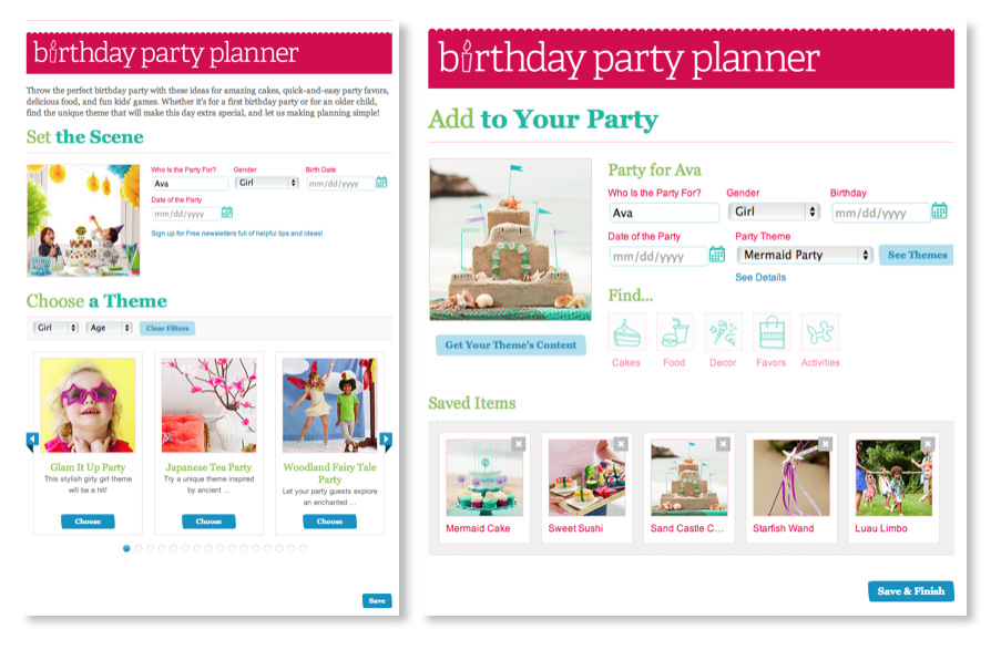 Parent Birthday Planner