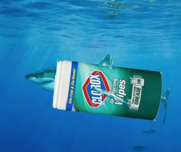 "Clorox's Great ""Wipe"" Shark"