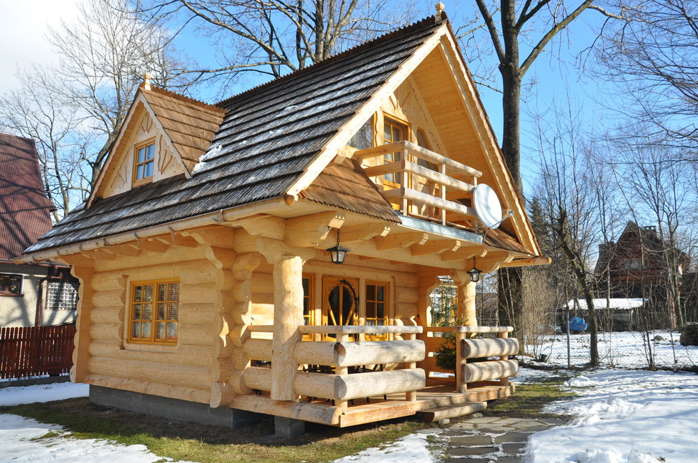 Little log houses the little log house company for Log home building plans