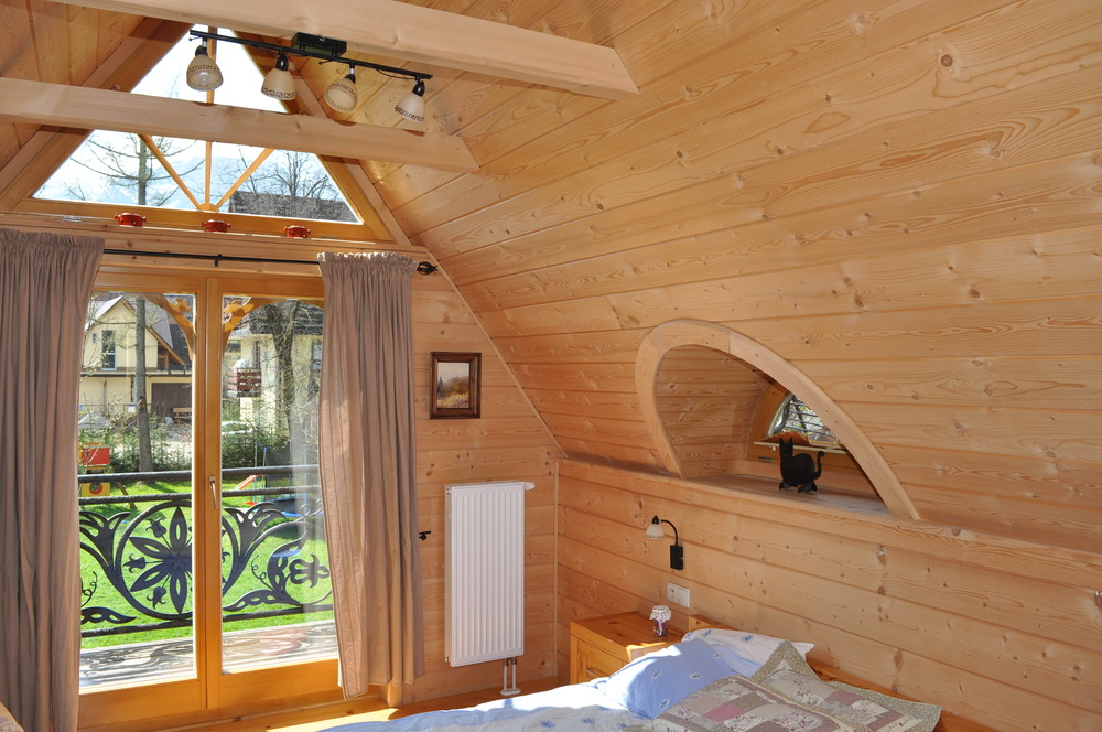Pine ceiling boards...