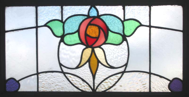 An Antique Stained Glass Feature Window...