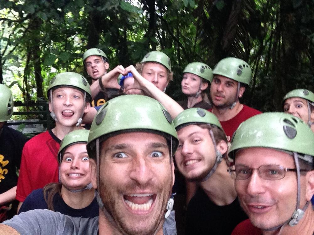 Selfie zip-lining in Costa Rica!
