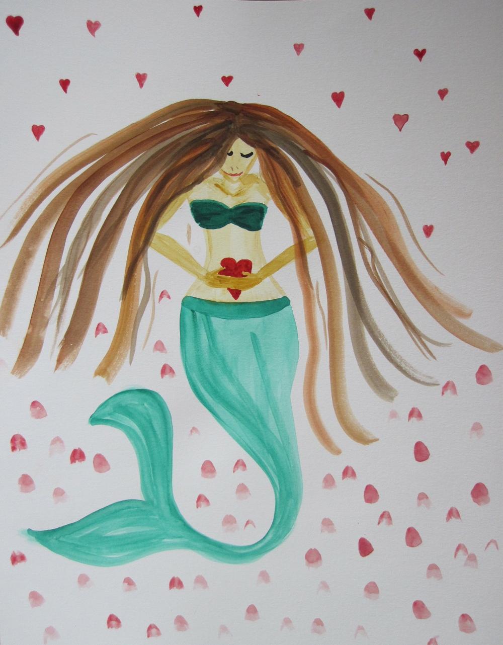 Full of love mermaid