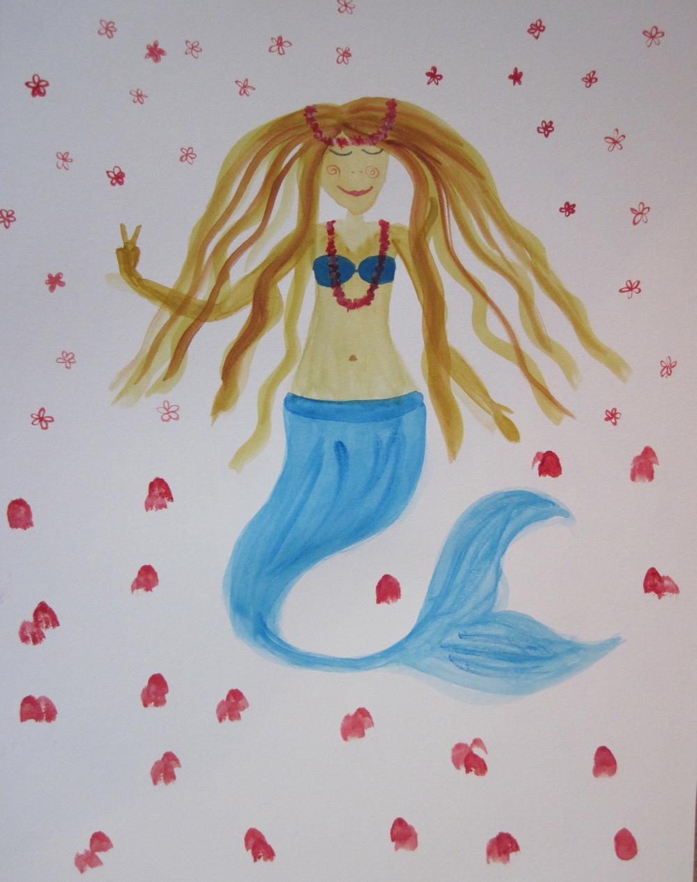 peace, love & aloha mermaid