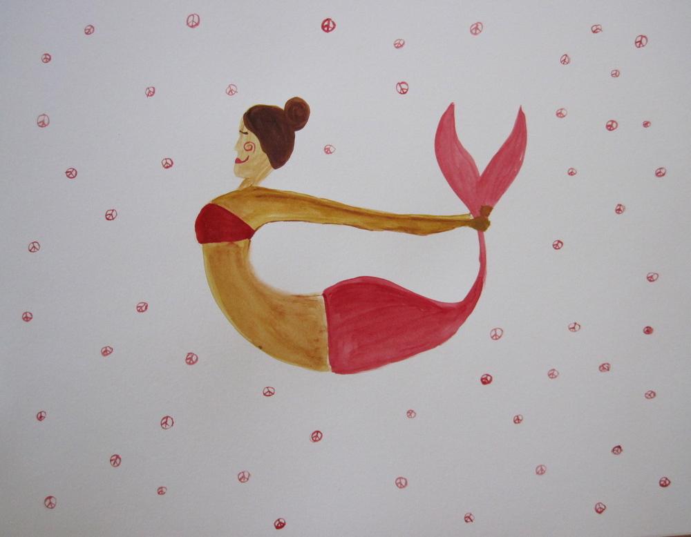 Yoga mermaid