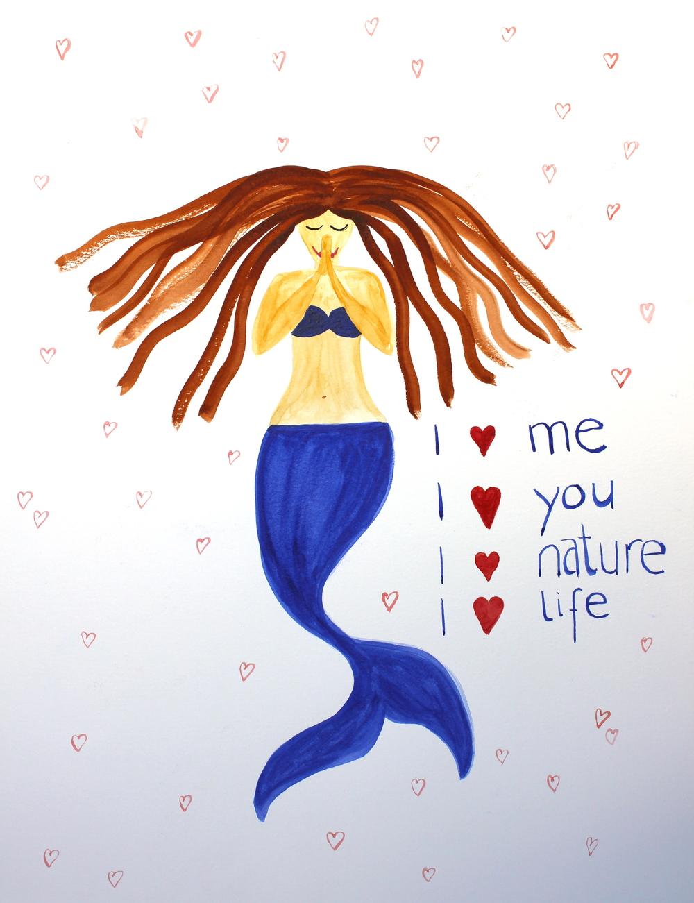 """""""I love"""" mermaid"""