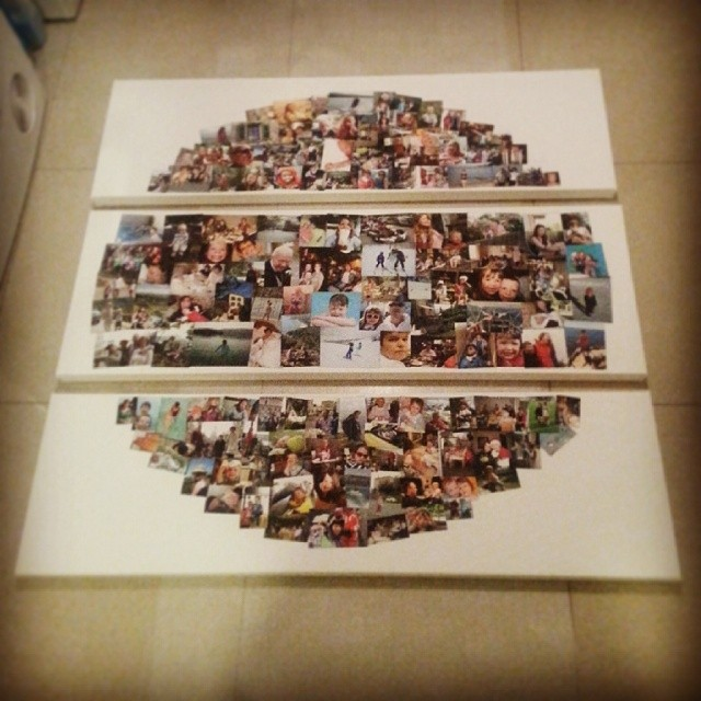 48x48 Inch 3 piece 170 photos collage on canvas #everythingcollage #collagecanvas #photocollage