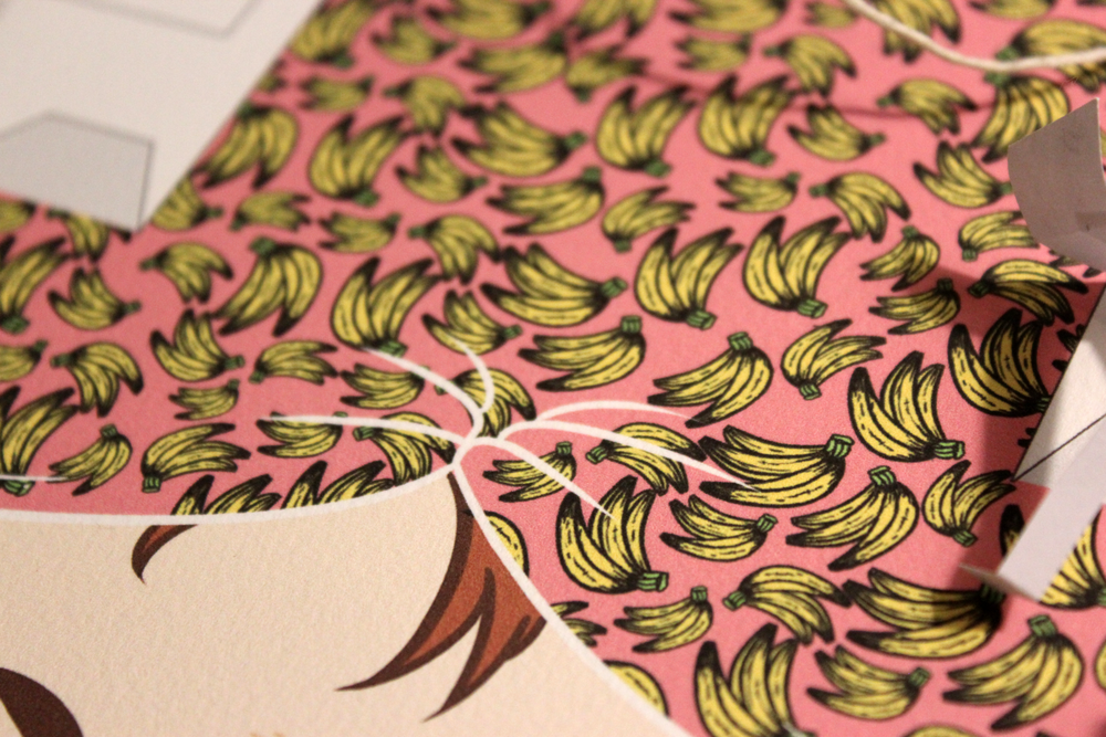 Banana-patterned bandana :3