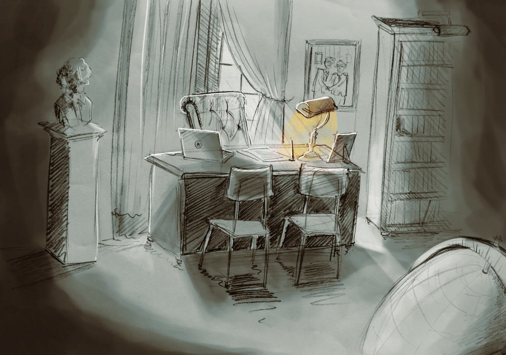 Director's Room concept sketch