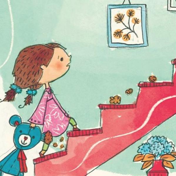 The main character, Niki & her teddybear 'Orsinu'.