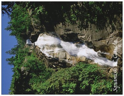 5. Shannon Falls, sunny.