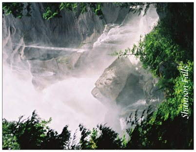 6. Shannon Falls, sun & spray.