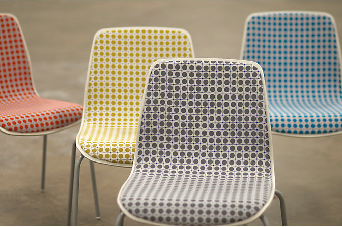 Dot Grid  - was created by layering three grids to form a single, unified design. Large dots are set inside a grid of lines, with tiny diamonds at each intersection. Dot Grid is a continuation of Dot Structure, Blanchard and HBF Textiles' NeoCon Gold winning fabric from 2014. Available in 9 colors.