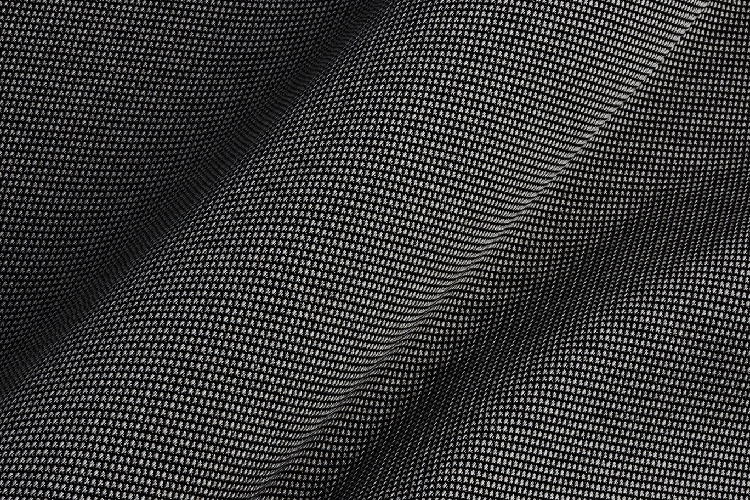 Forge  - Imagined as metal-mesh furniture covering, Forge mimics the high-tech fabrics that Elodie uses in her fiber installations. Forge's colorations reflect metallic hues – gold, pewter, platinum, copper, silver, nickel and steel. This Sunbrella-certified performance fabric features vinyl-coated yarns, which are suitable for both indoor and outdoor use. Available in 7 colorways.