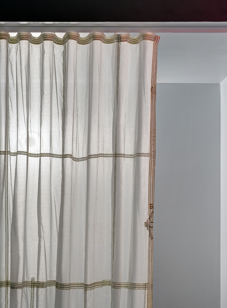 NYC. Curtain made with  recycled parachute