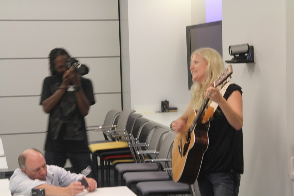 Impromptu performance at Google NYC Offices...