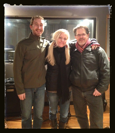 With Christ Reba (Producer & Bassist) and Glenn Stevens (mandolin)