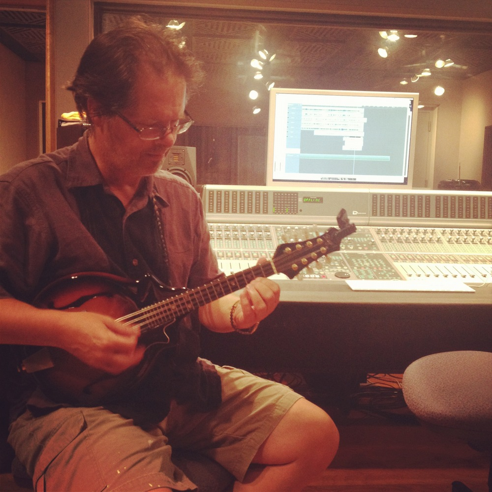 Glenn Stevens working his mandolin magic...